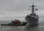 The guided missile destroyer USS Stout (DDG 55) departs Naval Station Norfolk, Va., Aug. 18, 2013, for deployment to the U.S. 6th Fleet area of responsibility 130818-N-WJ261-099.jpg