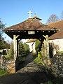 The lych gate at St Andrew's Meonstoke - geograph.org.uk - 1123422.jpg