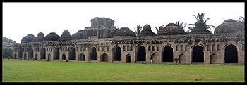 The magnificant elephant stables of Hampi.jpg