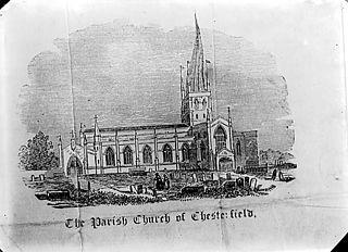 The parish church, Chesterfield (print)