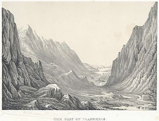 The pass of Llanberis (Carnarvonshire, north Wales)