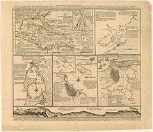El sitio de Cartagena de Indias. 220px-The_seat_of_war_in_the_West_Indies_1740