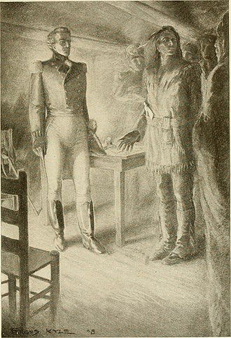 Isaac Brock - Brock met with Shawnee chief Tecumseh in Amherstburg. He quickly established a rapport with Tecumseh, ensuring his cooperation against Fort Detroit.