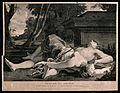 The suicides of Pyramus and Thisbe; Thisbe and Pyramus lying Wellcome V0041579.jpg
