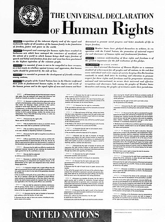 Universal Declaration of Human Rights - The human rights adopted by the United Nations General Assembly of its 183rd meeting, held in Paris on 10 December 1948