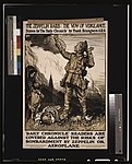 """The zeppelin raids- the vow of vengeance. Drawn for """"The Daily Chronicle"""" by Frank Brangwyn A.R.A LCCN2003675360.jpg"""