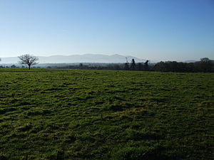 Golden Vale - The Golden Vale in winter, in County Tipperary. The Galtee Mountains are visible