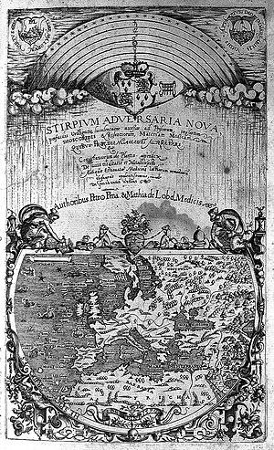 Matthias de l'Obel - Title page, Stirpium adversaria nova 1571
