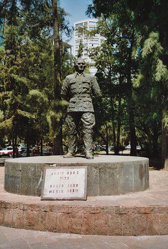 Mexico–Serbia relations - Memorial to Josip Broz Tito in Mexico City