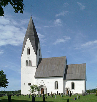 Gotland - Tofta Church, one of the island's many distinctive, well-preserved medieval churches.