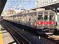 Tokyu Series 8500 8617F in Hikifune Station.jpg
