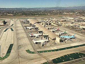 Los Angeles International Airport - A number of international carriers shown at Tom Bradley International Terminal.