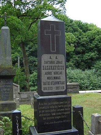 Rasos Cemetery - Tomb of Jonas Basanavičius
