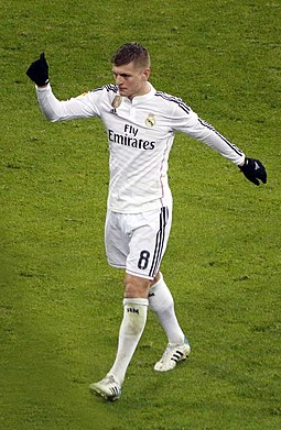 Kroos playing for Real Madrid in 2015 Toni Kroos - CdR - RM v ATL (cropped).jpg