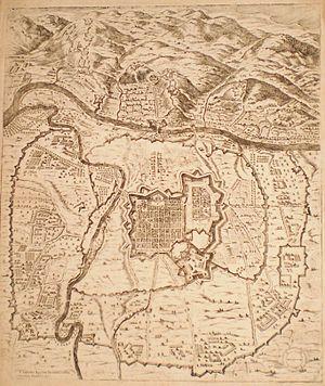 Torino 1500-1600 vista dall'alto