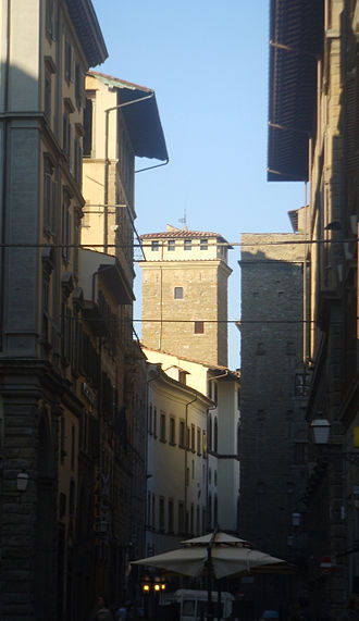 Palazzo Bartolini-Torrigiani - Torre dei Monaldi, street view