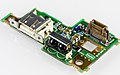 Toshiba Satellite 220CS - PCB with status LEDs, IR receiver, USB slot-91644.jpg