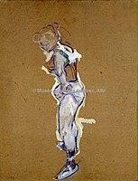 Toulouse-Lautrec - TRAPEZISTE AJUSTANT SON MAILLOT, 1890, MTL.131.jpg