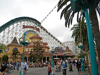 Disney California Adventure - Victorian style architecture in Paradise Pier