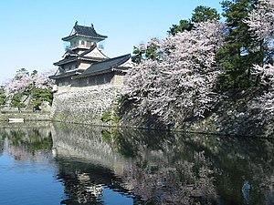 Toyama Castle - Toyama Castle moat