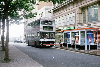 Tracline 65 - MCW Metrobus at the City Centre end of the route in 1986