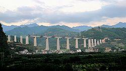 Train line at Xingping Reservoir.JPG