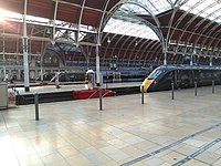 Trains at London Paddington station.jpg