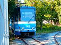 Tram 143 at Kopli Tram Depot in Tallinn 18 September 2016.jpg