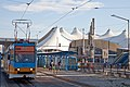 Tram in Sofia in front of Central Railway Station 2012 PD 085.jpg