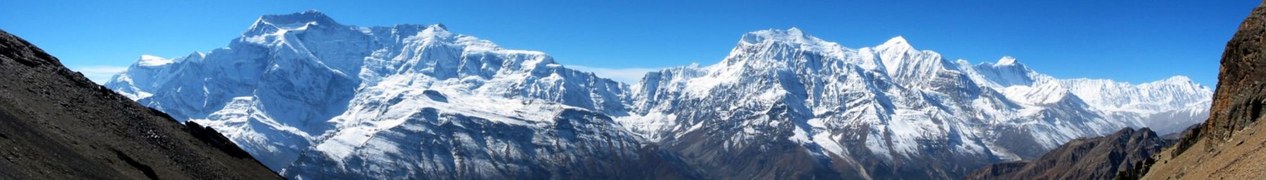 The north face of Annapurna Himal in Nepal.