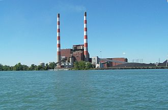 Trenton Channel Power Plant - Trenton Channel power plant in 2007