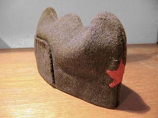 Triglavka side cap that was a part of the Yugoslav Partisan uniform in Croatia, Slovenia and western Bosnia