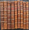 Tristram Shandy First edition spines.jpg
