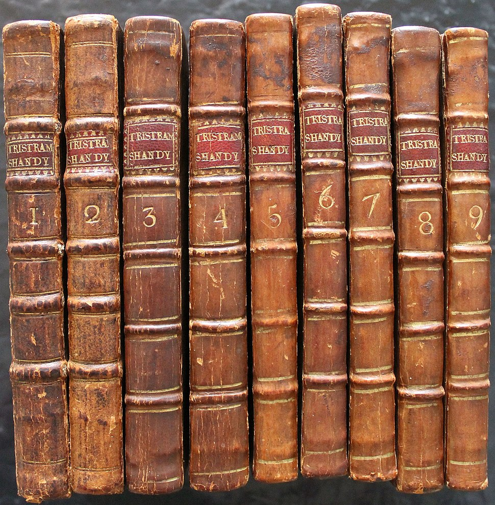 Tristram Shandy First edition spines