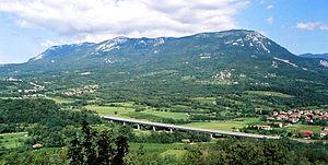 Trnovo Forest Plateau - The Trnovo Forest Plateau seen from Vipavski Križ