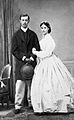 Tsarevich Nicholas Alexandrovich of Russia and Princess Dagmar of Denmark.jpg