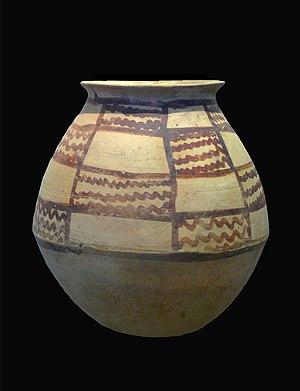 Tureng Tepe - Painted pottery, Iranian bronze age of Tureng tepe. 2nd millennium BCE at the Louvre Museum, Paris