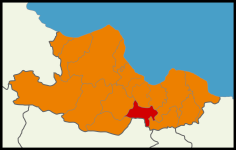 Turkish Local Elections 2014 Samsun Map (Blank2).png
