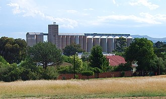 Agriculture in South Africa - Grain elevator and silos in the Free State