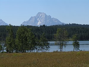 Two Ocean Lake - Two Ocean lake with Mount Moran in the background
