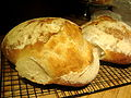 Two loaves of pagnotta made with a biga, or starter dough. heavenly..jpg