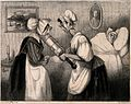 Two maids confer on whether to 'refresh' a sick man Wellcome V0011740.jpg