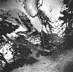 Tyeen Glacier, mountain glacier terminus, rock striations, and iceberg filled inlet, June 21, 1978 (GLACIERS 5951).jpg