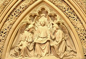 Isidore Konti - Image: Tympanum carving, Grace Church (NYC)