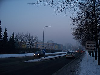 Orlová - Like in others towns around Ostrava also in Orlová you can see smog in winter