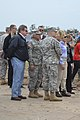 U.S. Army Gen. Frank Grass, the chief of the National Guard Bureau; Oklahoma Gov. Mary Fallin; and Maj. Gen. Myles Deering,visit with area residents and Oklahoma National Guardsmen in tornado-damaged Moore 130528-Z-TK779-011.jpg