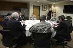 U.S. Defense Secretary Ash Carter meets with U.S. Ambassador to South Korea Mark Lippert at the Distinguished Visitors Lounge on Osan Air Base in South Korea, April 9, 2015 150409-D-AF077-1166.jpg
