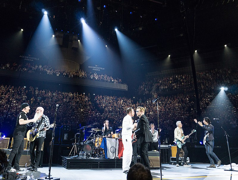 U2 and Eagles of Death Metal in Paris Dec 7 2015.jpg