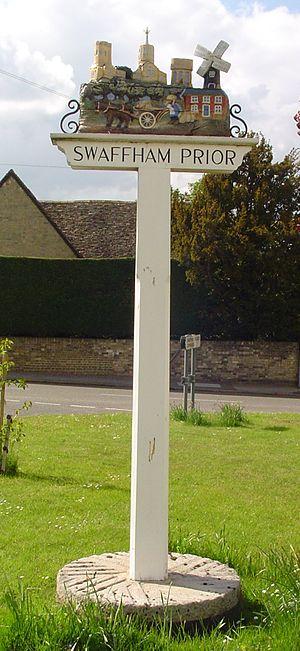 Swaffham Prior - Signpost in Swaffham Prior