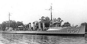 USS Porter (DD-59) - USCGC Porter (CG-7), ex USS Porter (DD-59), on Coast Guard service during the Prohibition Era.